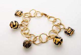 MC6-С/maz Браслет цвет золото муранское стекло
