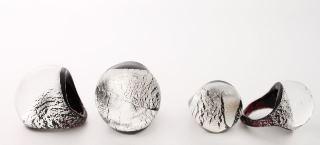 NV31a Кольцо круглое большое с серебром