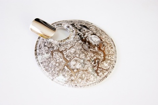 NV02/2 Подвеска Бонди' д.8см цвет платина муранское стекло