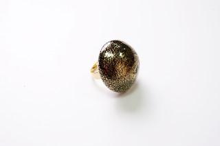 """RS53-A Кольцо """"Золотая фантазия"""", 3 цвета, муранское стекло"""