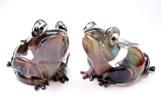 TP11 Скульптура Лягушка 20 см, мастер Andrea Tagliapietra, техника