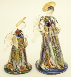 GRos02 Ангел большой 12см муранское стекло