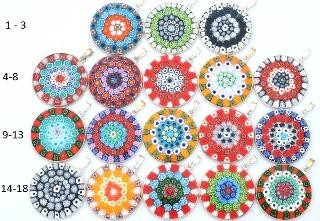 Mur3 Подвеска диам.3,1 см Классическая мозаика  муранское стекло