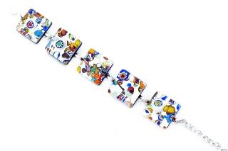 Арт. 160 браслет с 5 элементами 2x2cm