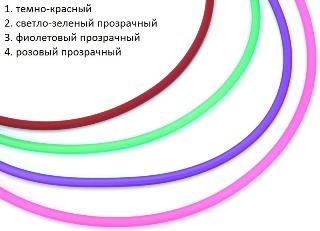 TR95(2) Каучук для колье из бусин Пандора 50см с невидимым замком 4 цвета
