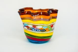 Ваза фацалетти Multicolor малая h 11 см, фабрика murano Design