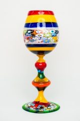 Бокал Multicolor подарочный h32 см фабрика Murano Design