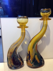 Подсвечник малый h 32 см, фабрика Obal, муранское стекло
