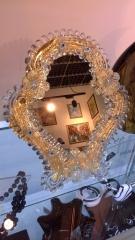 А 7 зеркало h 23 см, фабрика Murano Design, муранское стекло ручная работа