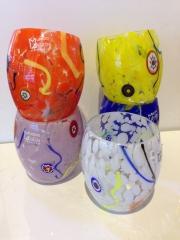 Стакан Multicolor, h- 11 cм, фабрика Murano Design, ручная работа, муранское стекло