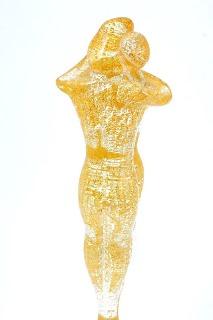 """TP01/1 Скульптура """"Любовники"""" 30 см в золоте муранское стекло"""
