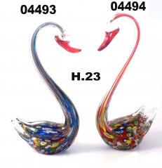 SM4493 Статуэтка Лебедь с мурринами цвет синий 23см