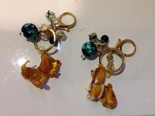 Брелок для ключей с собачкой, муранское стекло