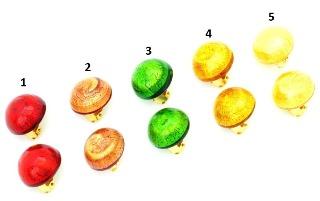 2017-00-20/maz Клипсы с золотом диам. 20 мм 5 цветов муранское стекло