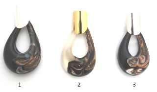 NV23 Подвеска  Крупная Капля 3 цвета муранское стекло