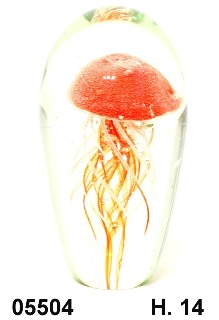 SM5504 Статуэтка Аквариум с медузой h14 см