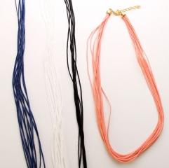 Ожерелье текстильное многорядное