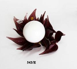 543/E Подсвечник мал. муранское стекло