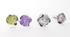 RS05-A Кольцо Роза дикроико и муранское стекло разл.цвета