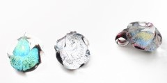 RS05-P Подвеска Роза дикроико и муранское стекло разл.цвета