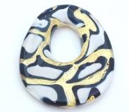 ZN01M Подвеска-медальон Леопард муранское стекло