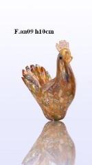 F.an09 Павлин (выс. 10см) муранское стекло