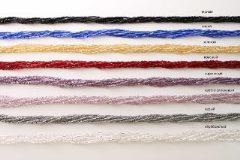 Ожерелье бисер 6 рядов толстый/рубка 50см различные цвета