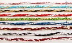 Ожерелье бисер 9 рядов двухцветный 52см различные цвета