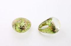NV15 Кольцо Бонди' круглое диам.2,5см цвет зелено-золотой