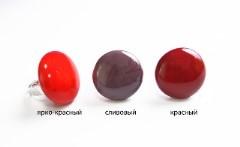 """RS52-A Кольцо """"Матовая фантазия"""", 3 цвета, муранское стекло"""