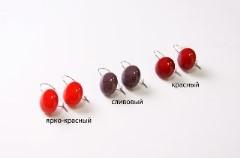 """RS52-O Серьги """"Матовая фантазия"""", 3 цвета, муранское стекло"""