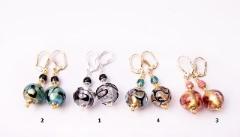 2012-69/maz Серьги 4 цвета муранское стекло