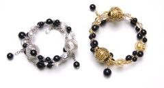 Vac/B7169 Браслет тройной цвет золото и серебро (к колье Vac/C7909) муранское стекло