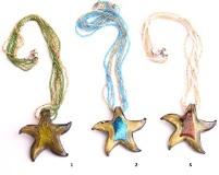 VY628 Подвеска-звезда на разноцветном бисере цветное стекло