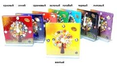 """N6 Часы настольные """"Дерево"""" 12х12см 8 цветов муранское стекло"""