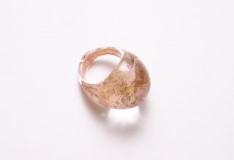NV16 Кольцо Бонди' цвет розово-золотой муранское стекло