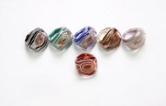 RD03-A Кольцо Око тайфуна 6 цветов муранское стекло