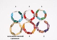 Co11-2/maz Браслет 6 цветов муранское стекло
