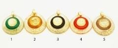 RS30-P Подвеска Double gold 5 цветов муранское стекло