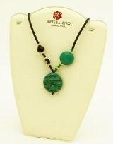 2013-31/maz Колье Микены цвет зеленый муранское стекло