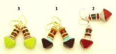 2013-2/maz Серьги Тимбукту 3 цвета муранское стекло