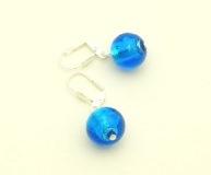 S1288/maz(1) Серьги цвет голубой муранское стекло