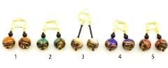 2014-40/2 maz Серьги Финикийский орнамент 5 цветов муранское стекло