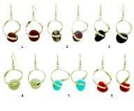 RS81-C Серьги Синто 8 цветов муранское стекло
