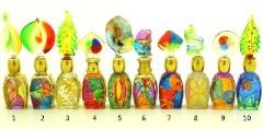 B01 (9) Флакончик Венецианский карнавал h8-14см серия Винтаж муранское стекло
