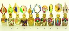 B01 (10) Флакончик Венецианский карнавал h8-14см серия Винтаж муранское стекло