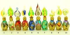 B01 (11) Флакончик Венецианский карнавал h8-14см серия Винтаж муранское стекло