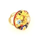 арт.92 кольцо круглое диам.2,7см муранское стекло скидка 50%