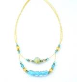 Vac/C505 Колье Нежность цвет голубой муранское стекло