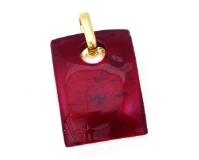 Арт.01 красный - подвеска 3x4 см муранское стекло
